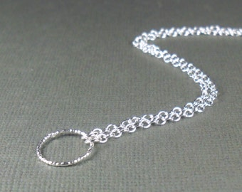Open Circle Anklet, Sterling Silver Anklet 925, Hoop Anklet, Modern Infinity Anklet, Minimalist Anklet with Textured Hoop,Summer Jewellery