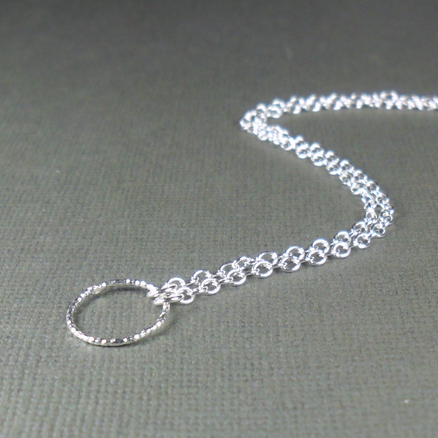 silver chain link inch anklet adjustable double sterling asp curb p