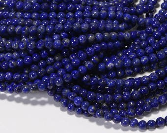 Lapis Lazuli 3.3 mm Royal Blue Natural Lapis Lazuli Jewelry Making Supplies