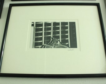 Abstract art, black and white, on photo paper