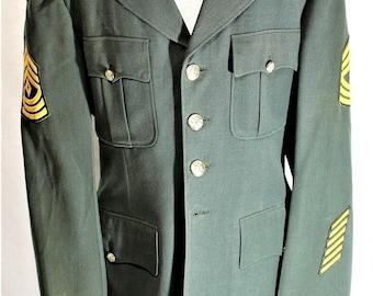 US Army Class A First Sargent Men's Dress Jackets/Coat 39 L