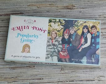1970 Emily Post Popularity Game Vintage Board Game A Game Of Etiquette For Girls