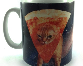 New SpaceCat space cat pizza internet meme gift mug cup present 11oz
