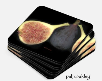 The Wonderful Fig Still Life Coaster Set | Hostess Gift