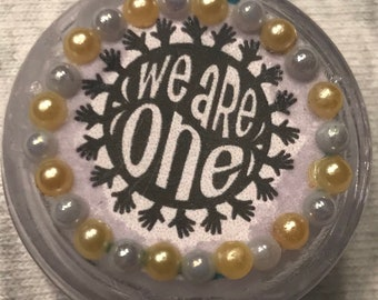"""World Peace Theme """"We Are One"""" Retractable Badge/ID Holder"""