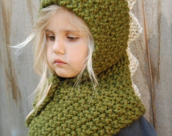 KNITTING PATTERN - Dalton Dino Cowl (6/9 month - 12/18 month - Toddler - Child - Adult sizes)