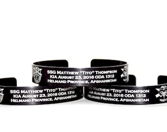 Memoial Braceler for SSG Matthew Thompson