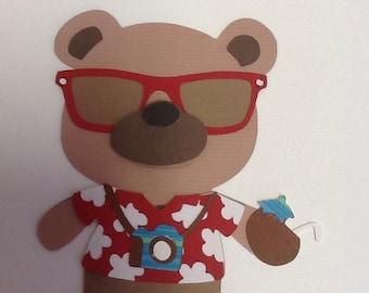 Cricut Die Cut Teddy Bear Parade Tourist