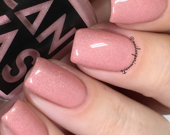 STEAMED HAMS - soft pink with warm iridescent shimmer