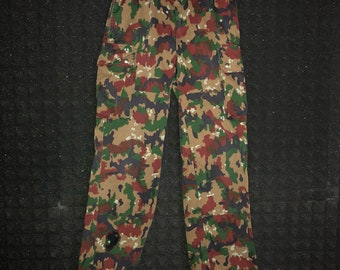 Relaxed fit camo pants