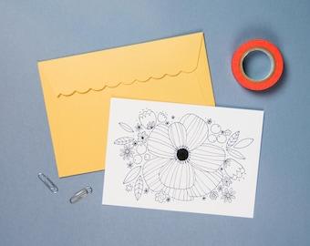 "Postcard ""BOUQUET FLEURI"""