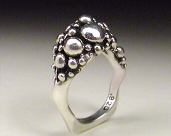 Sterling Silver raindrop ring