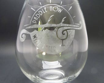 Personalized Etched Glassware
