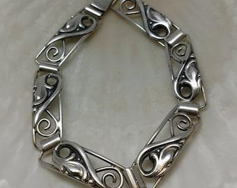 Antique Scandinavian Silver Bracelet