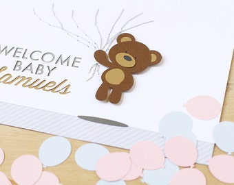 Gender Reveal Party, Baby Shower Guest Book, Gender Neutral Guest Book, Teddy Bear Baby Shower, Teddy Bear Guest Book, Pink And Blue