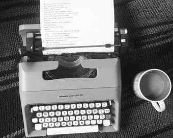 Handwritten or Typewritten Poetry Commission