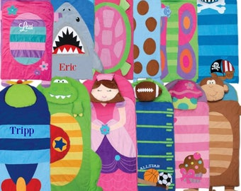 Personalized Nap Mats / Stephen Joseph / Boutique Blankets / Kids Sleeping Bag