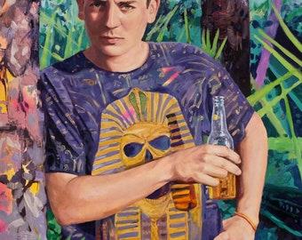 Dalton, original oil on canvas painting