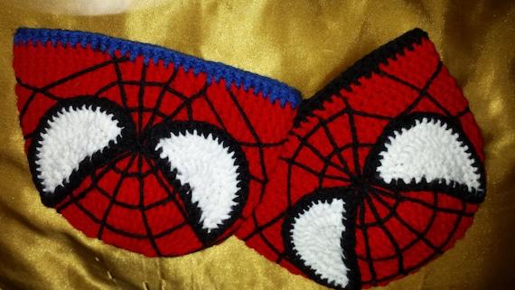 Sweet Spiderman Crochet Beanie Handmade Multiple Sizes