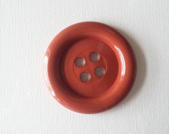 Extra Large Button - Rust Brown - haberdashery, sewing, knitting, crochet, scrapbooking, kids crafts