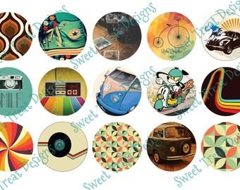 Retro Bottle Cap Images - Set #1 (Set of 15 Images)