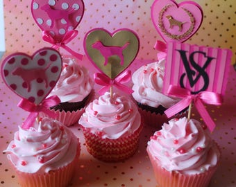 Victoria's Secret cupcake toppers