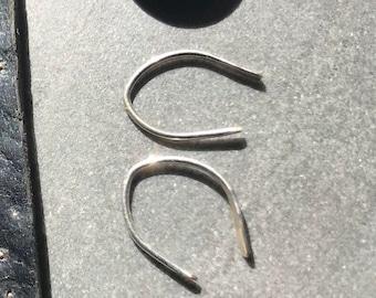 Sterling Silver Horseshoe Earrings