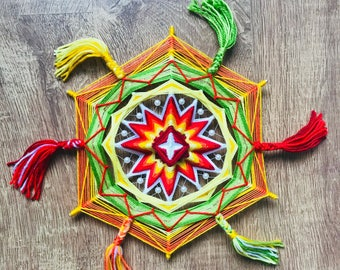 Ojo de Dios Eye of God Yarn Mandala Easter, Created by a Reiki Master Teacher.