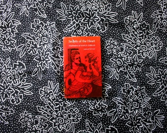 Secrets Of The Heart Meditations By Kahlil Gibran 1968 Hardcover Mystical Romantic Metaphysical Sufi Occult Poetry Romantic Poetry Gift