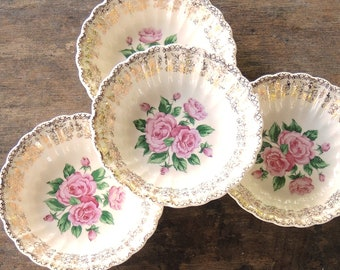 Sebring China Bouquet Dessert Bowls Set of 4 Wedding China Berry Bowls Sauce Bowls Replacement China