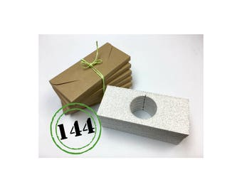 144 envelopes postcards, less than 2 cm slot of doom, recycled kraft cardboard jewelry, ETSY sellers, protection, ultra light