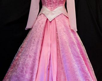 NEW! Pink Swirls ADULT Sleeping Beauty Aurora Costume GOWN