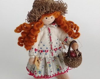 Acorn-Capped Bendy Doll with Apple & Acorn Basket