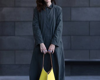 13in Wedge - Lemon yellow leather