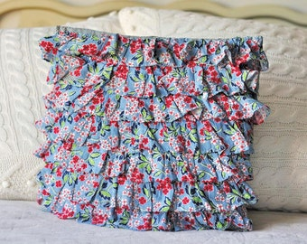 Floral Ruffle pillow