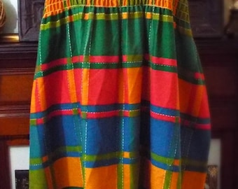 Vintage Colorful Sleeveless Dress
