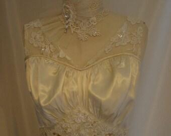 1940's Wedding Dress Gown Vintage Redesign
