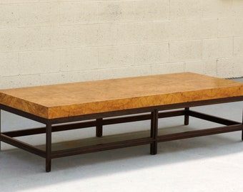 Contemporary Burl Wood Table
