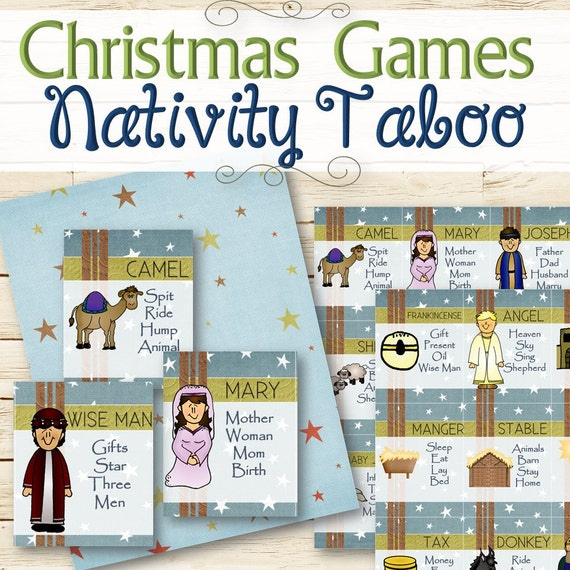 Nativity Christmas Taboo Game INSTANT DOWNLOAD