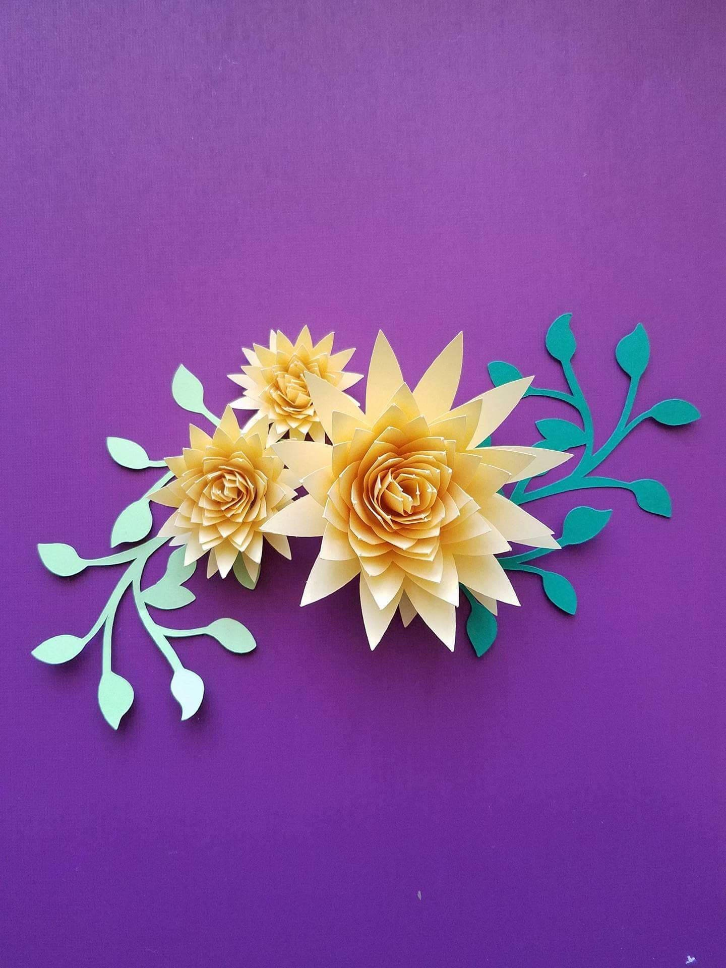 Set of 10 small paper flowers rolled paper flowers origami zoom jeuxipadfo Gallery