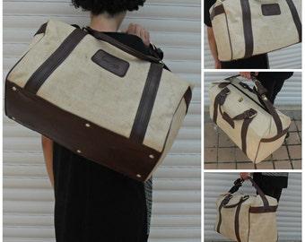 Vintage Pierre Cardin Weekend bag / overnight bag / duffel bag 19870s-80s. French designer  luggage .