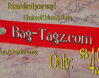 Personalized Printed Luggage Tags