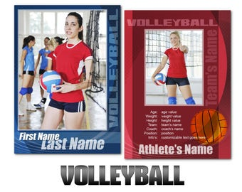 """Volleyball """"Impact"""" Cards Templates"""
