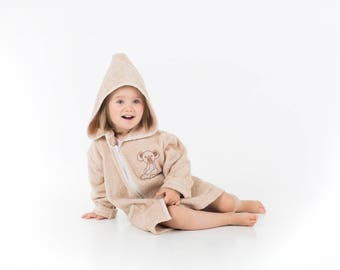 Children Bathrobe, TheLittleKoala, Cotton, Bathrobe with zip