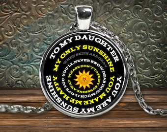 Custom You Are My Sunshine Necklace