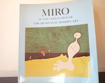 Miró - Museum of Modern Art Book - 1971 edition - gift for art lovers - gift for artists -