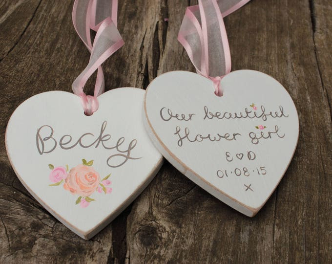 Personalised Bridesmaid Keepsake Gift - choose your colours, flowers and wording.