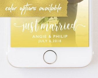 WEDDING SNAPCHAT GEOFILTER Just Married,Wedding Snapchat Filter,Snapchat Geofilter Wedding,Wedding Geofilter,Wedding,Just Married Sign