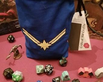 Captain Marvel Dice bag