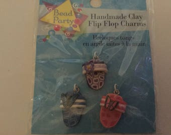 Clay Flip Flop Charms